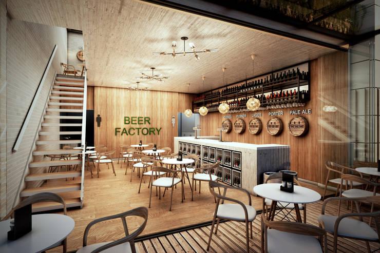 Pub - Bogotá: Pasillos y vestíbulos de estilo  por Arquitectura y Diseño Digital