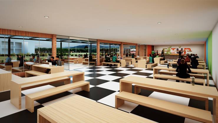 Colegio – Bogotá: Comedores de estilo moderno por Arquitectura y Diseño Digital