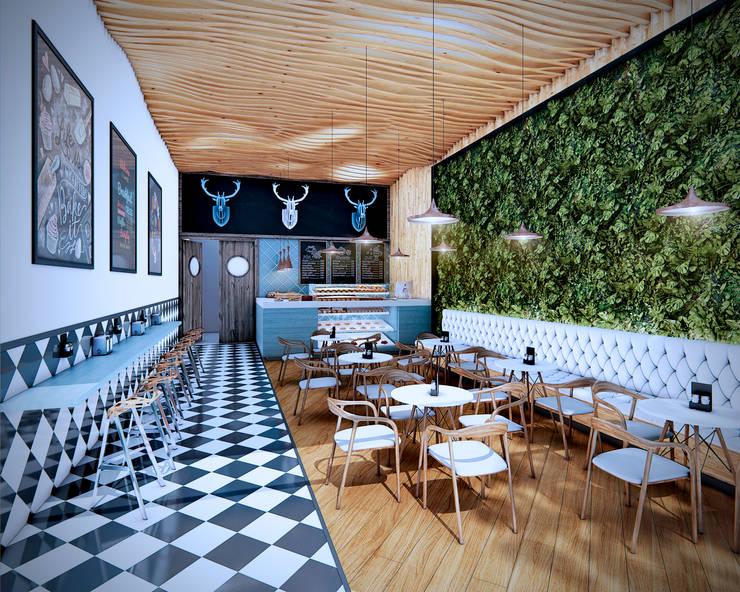 Restaurantes: Comedores de estilo  por Arquitectura y Diseño Digital,