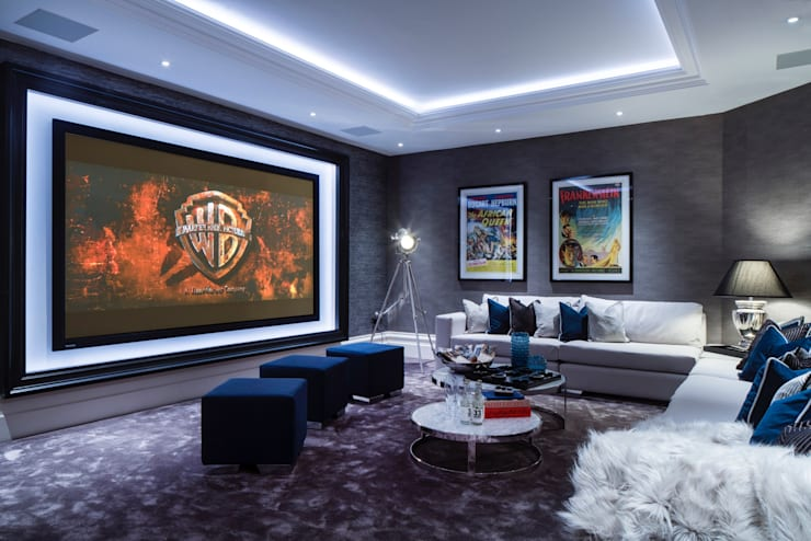 Basement Cinema Room:   by CTS Systems