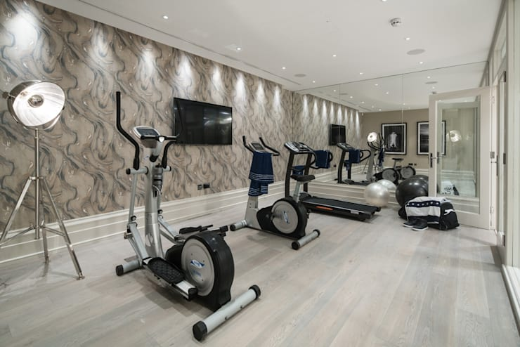 Basement Gym:   by CTS Systems