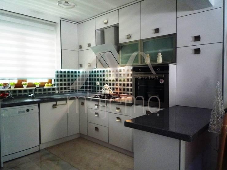 Majestik Mutfak & Mobilya – NESRİN YALIN:  tarz Mutfak, Modern Orta Yoğunlukta Lifli Levha