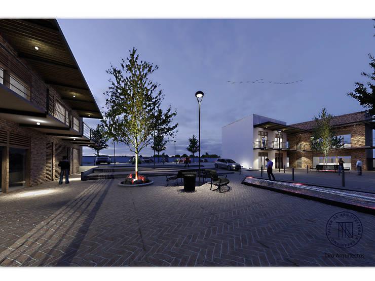 Plaza Comercial Santiaguito: Espacios comerciales de estilo  por Taro Arquitectos