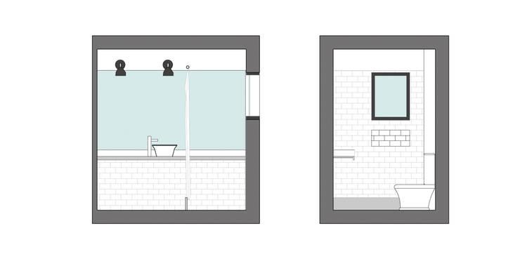 Reforma AS: Baños de estilo  por Estudio CRUDO,