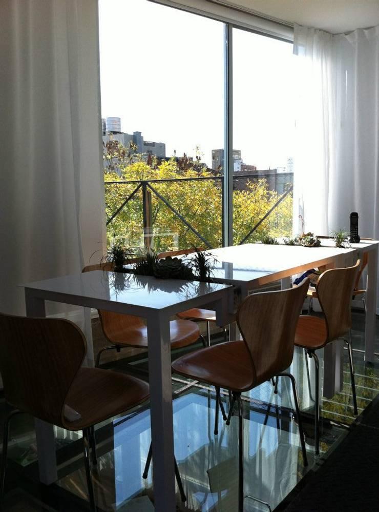 Deco Oficinas Green Group:  de estilo  por Estudio CRUDO,Moderno Metal