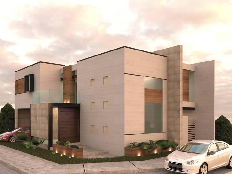 EXTERIOR: Casas de estilo  por 3030 ARQUITECTOS