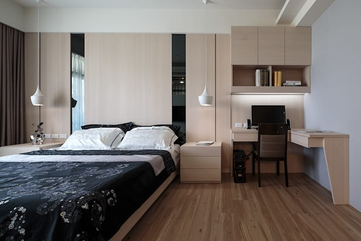 غرفة نوم تنفيذ IDR室內設計