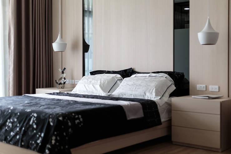 溫馨簡約風:  臥室 by IDR室內設計