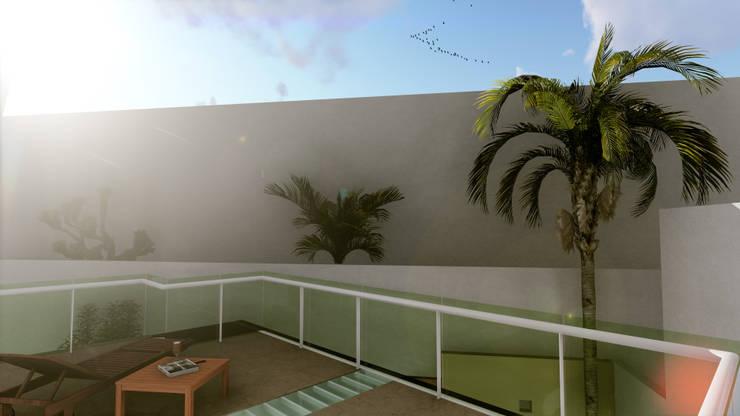 TERRAZA EL PALMAR: Terrazas de estilo  por Flores Rojas Arquitectura