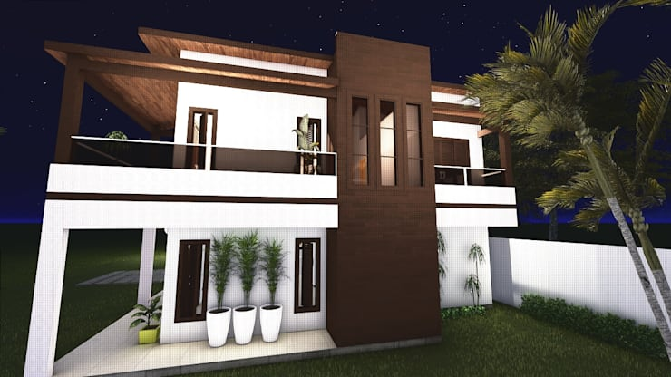Casas de estilo  por Juliana Almeida