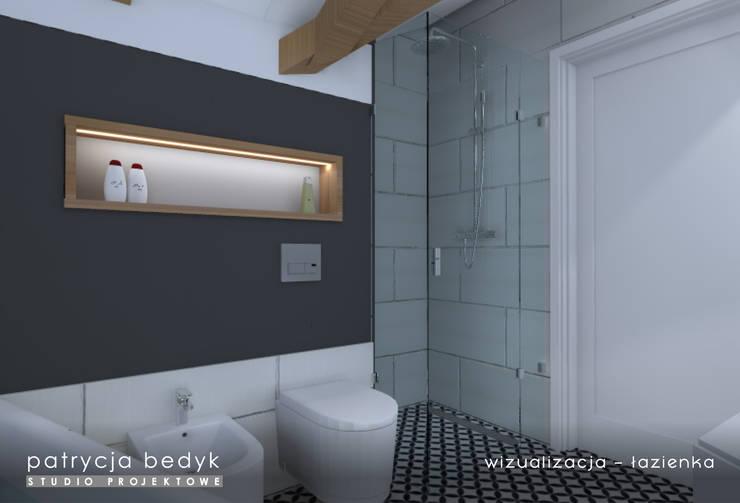 Łazienka w stylu skandynawskim: styl , w kategorii  zaprojektowany przez Patrycja Bedyk Studio Projektowe