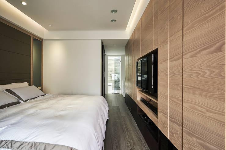 講究細節設計,讓主題牆更耐看:  臥室 by 青瓷設計工程有限公司
