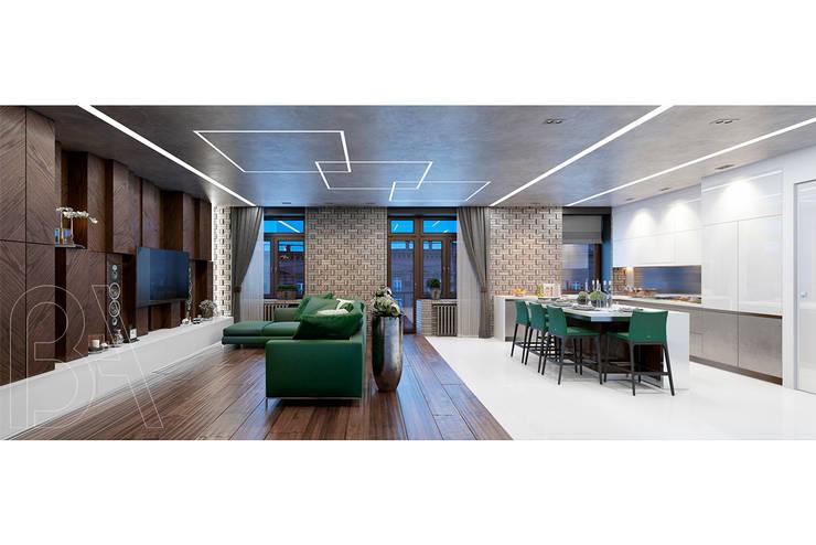 SOFT LOFT: Гостиная в . Автор – BOOS architects