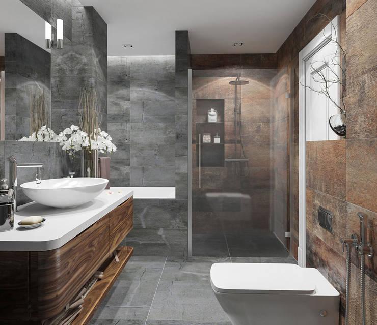 Ванная комната: Ванные комнаты в . Автор – OM DESIGN
