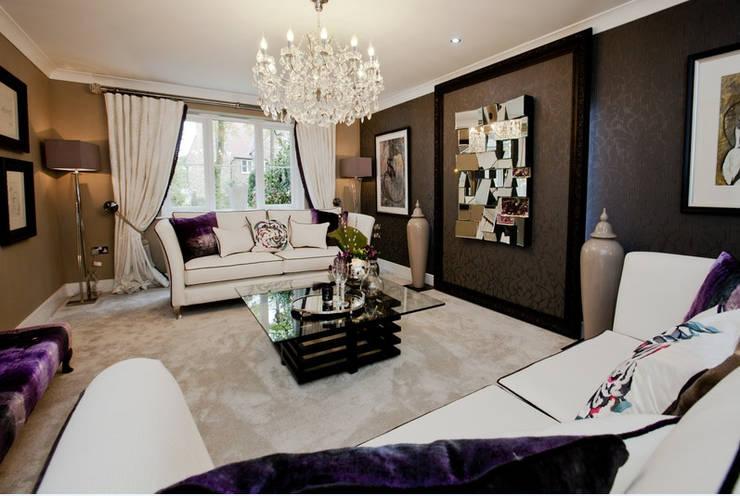 Projekty,  Salon zaprojektowane przez Graeme Fuller Design Ltd