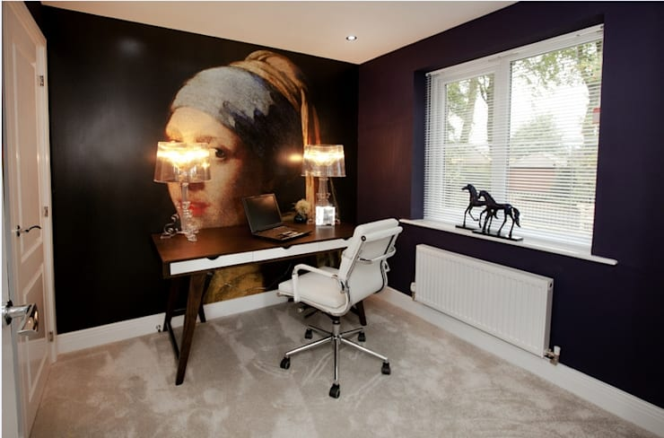 Projekty,  Domowe biuro i gabinet zaprojektowane przez Graeme Fuller Design Ltd