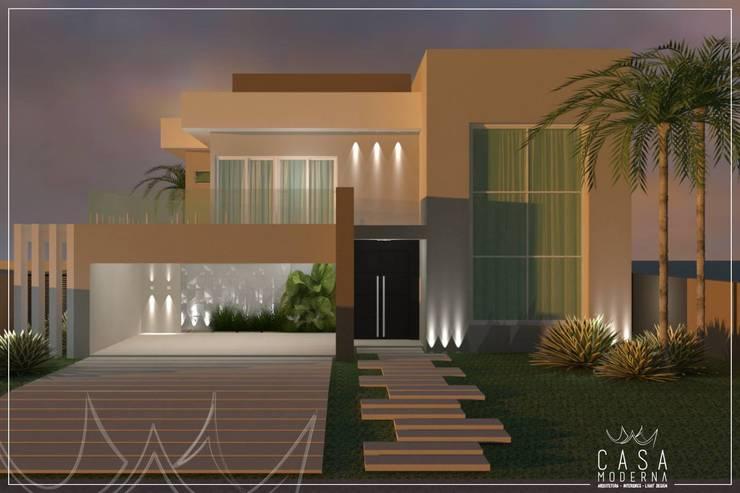 Sobrados com 3 quartos 25 projetos lindos para se inspirar for Casa moderna design