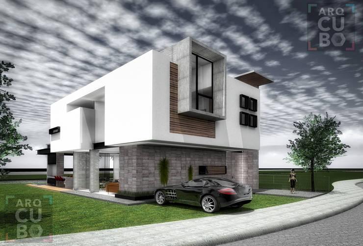 fachada principal:  de estilo  por ArqCubo