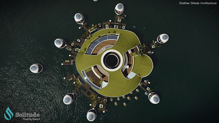 'SOLITUDE' Floating Resort :   by S2A studio