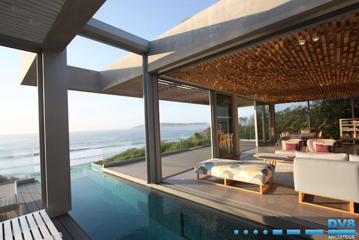 Plettenberg Bay—Beach House:  Pool by DV8 Architects
