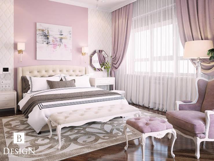 Британский квартал и милый двухэтажный домик в Киеве: Спальни в . Автор – B-design