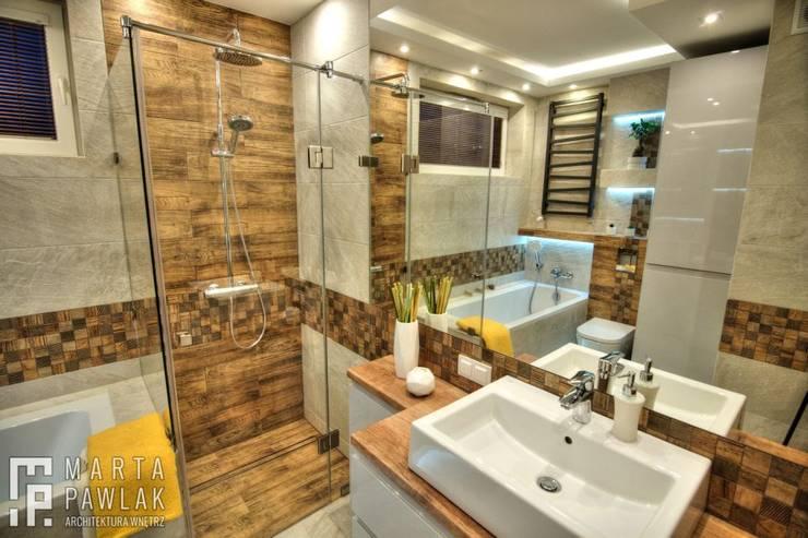Ванные комнаты в . Автор – MARTA PAWLAK  ARCHITEKTURA  WNĘTRZ
