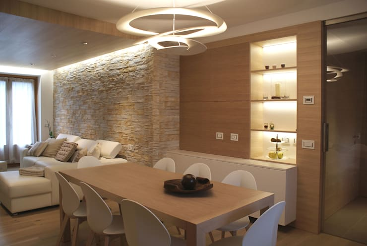 غرفة المعيشة تنفيذ GRITTI ROLLO | Stefano Gritti e Sofia Rollo