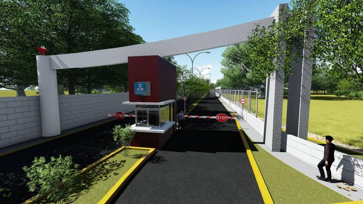 Arco de accseso:  de estilo  por iA Soluciones de Ingeniería y Aquitectura