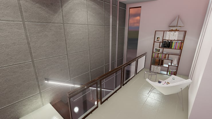 Estancia azotea:  de estilo  por iA Soluciones de Ingeniería y Aquitectura