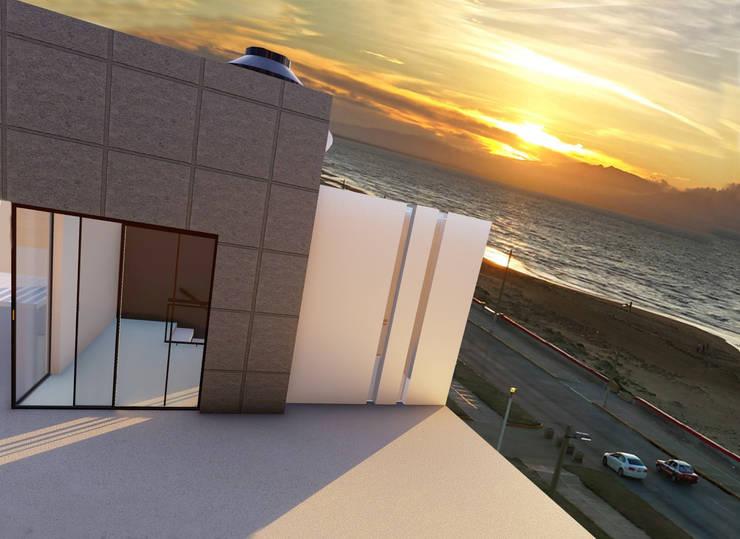 Puesta de sol Coatzacoalcos-Malecon:  de estilo  por iA Soluciones de Ingeniería y Aquitectura