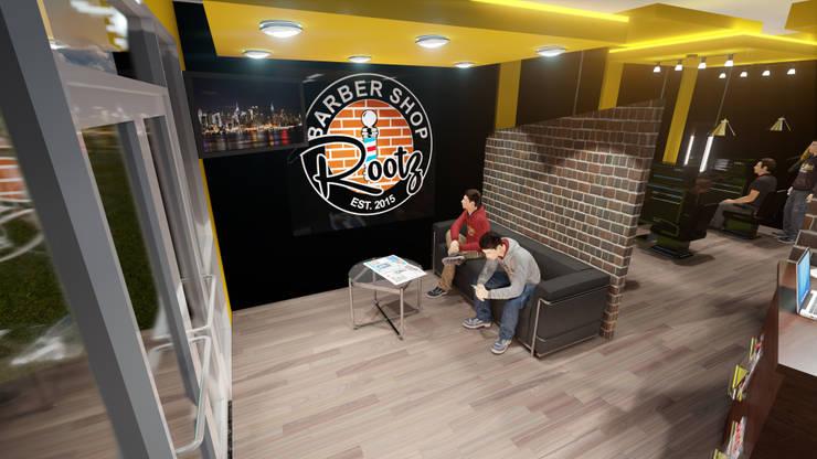 Sala de espera: Espacios comerciales de estilo  por iA Soluciones de Ingeniería y Aquitectura