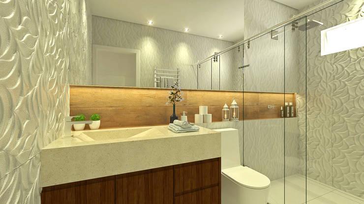 Baños de estilo ecléctico por Bruna Rodrigues Designer de Interiores