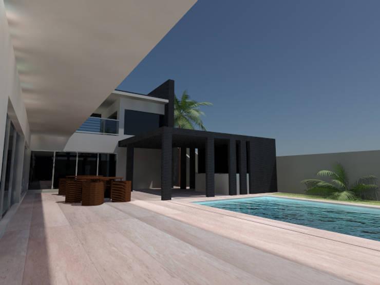 Moradia Luanda:   por CSLaureano Arquitectos, Lda