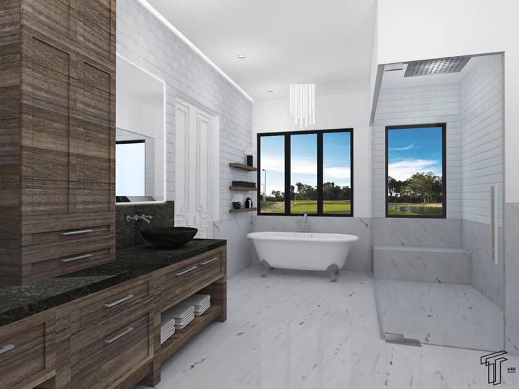 Bathroom by TAMEN arquitectura, Modern