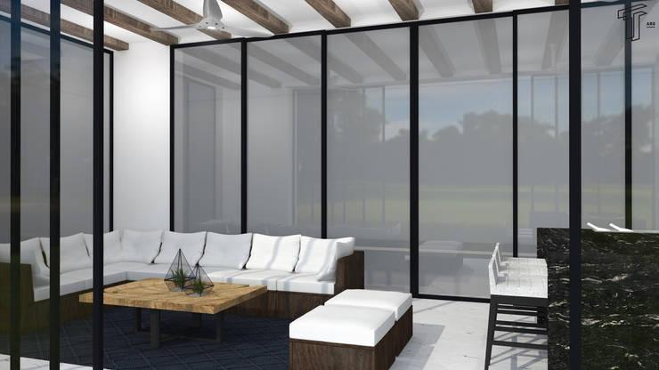 Terrazas de estilo  de TAMEN arquitectura, Moderno