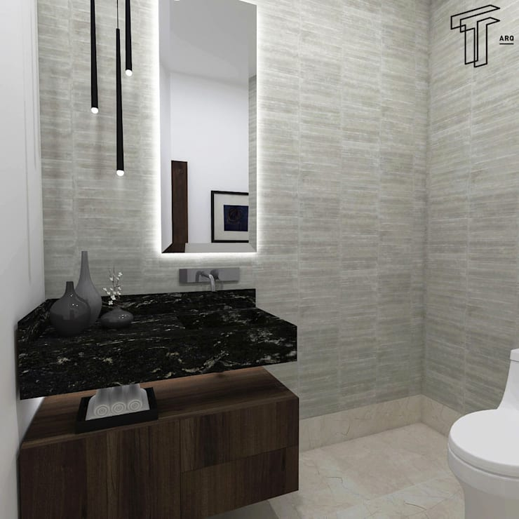 modern Bathroom by TAMEN arquitectura