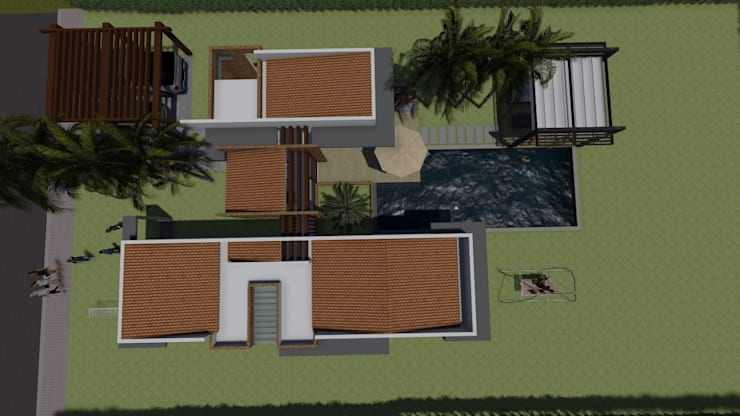 Conjunto Campestres La Unión : Casas de estilo  por ARQUITECTO JUAN ANDRES GUTIERREZ PEREZ