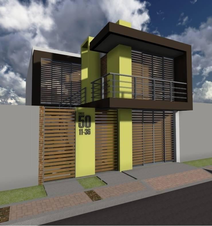 Casa Flor Amarillo: Casas de estilo  por ARQUITECTO JUAN ANDRES GUTIERREZ PEREZ