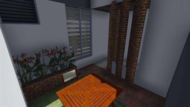 Casa Flor Amarillo: Jardines de estilo  por ARQUITECTO JUAN ANDRES GUTIERREZ PEREZ, Minimalista