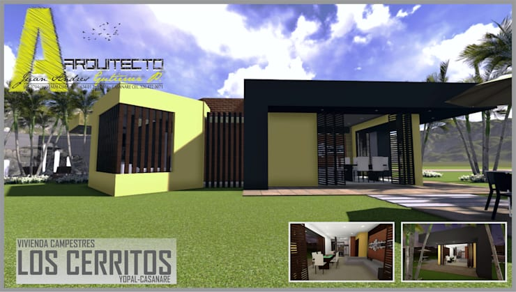 Modern houses by ARQUITECTO JUAN ANDRES GUTIERREZ PEREZ Modern