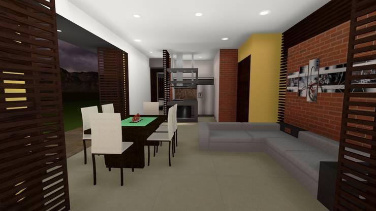 Casa Los Cerros: Comedores de estilo  por ARQUITECTO JUAN ANDRES GUTIERREZ PEREZ, Moderno