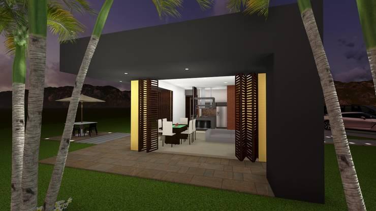 Casa Los Cerros: Casas de estilo  por ARQUITECTO JUAN ANDRES GUTIERREZ PEREZ, Moderno