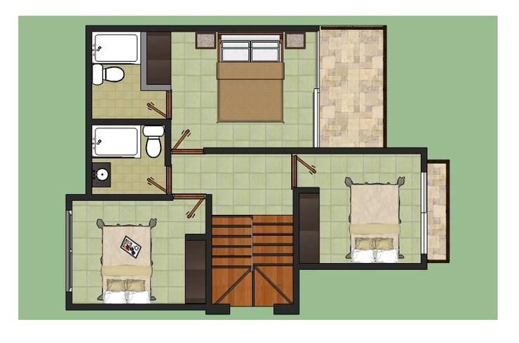 Conjunto Campestre ENTRECAÑOS: Casas de estilo  por ARQUITECTO JUAN ANDRES GUTIERREZ PEREZ