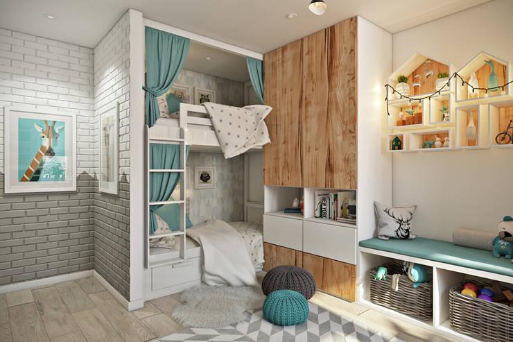 Квартира в скандинавском стиле: Детские комнаты в . Автор – Дарья Баранович Дизайн Интерьера