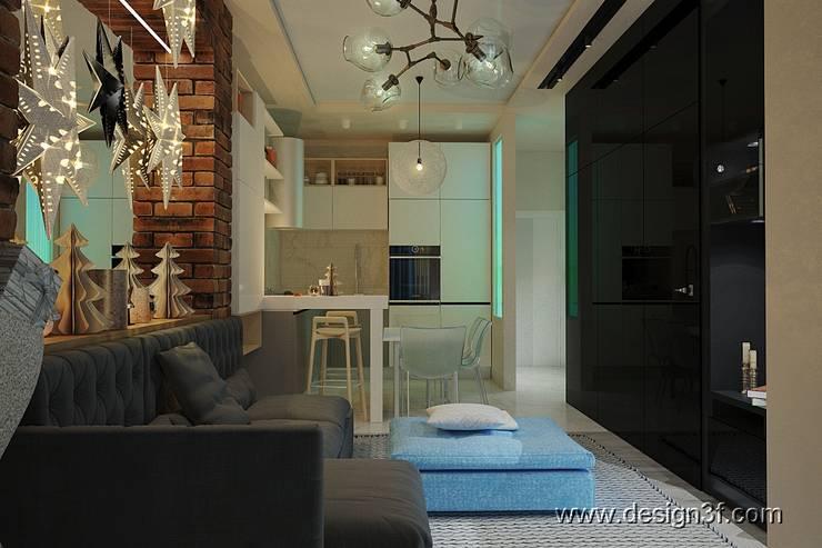 Интерьер квартиры студии: Гостиная в . Автор – студия Design3F, Минимализм