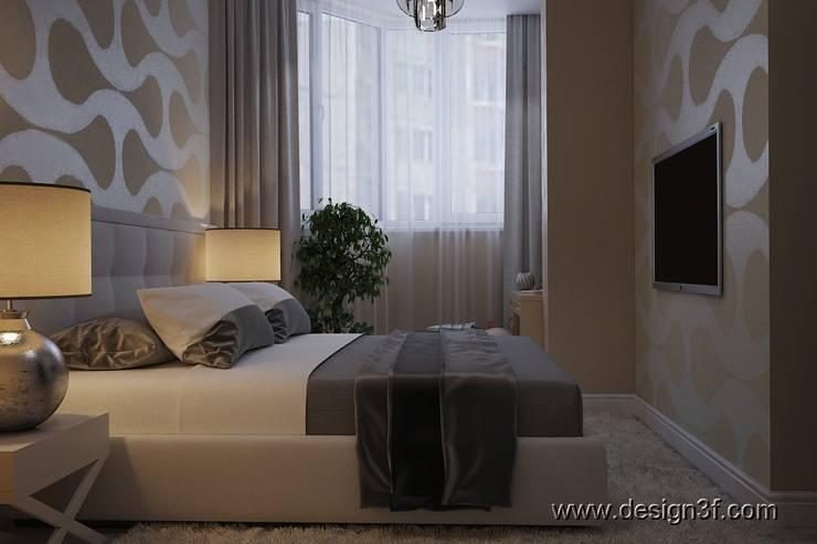 Интерьер квартиры студии: Спальни в . Автор – студия Design3F, Минимализм