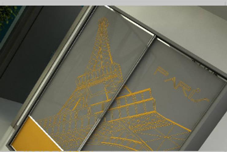 Glossexpert  – Digital Printing Sliding Wardrobe Door: modern tarz , Modern