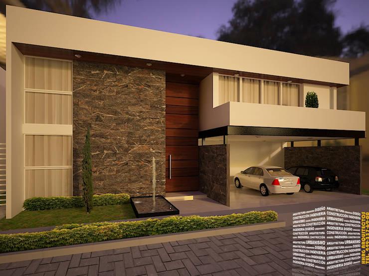 CASA CON ACCESO A DOBLE ALTURA: Casas de estilo  por HHRG ARQUITECTOS