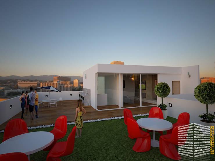 Projekty,  Taras zaprojektowane przez HHRG ARQUITECTOS