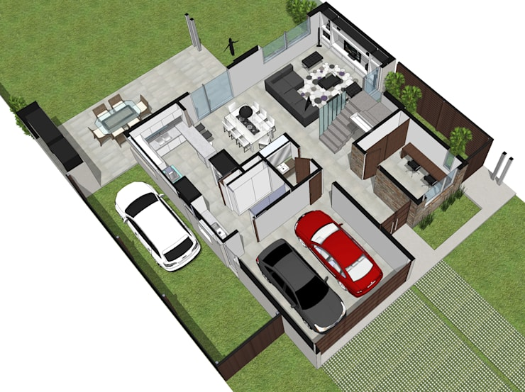 Planta Baja Equipada: Casas de estilo  por Raizar Arquitectura y Paisajismo,